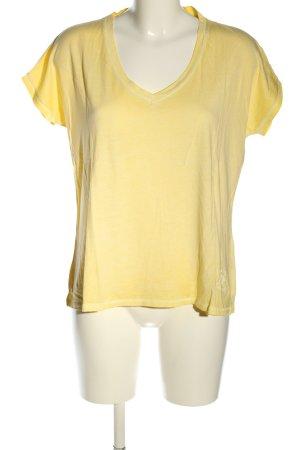 True Religion Oversized Shirt blassgelb Motivdruck Casual-Look