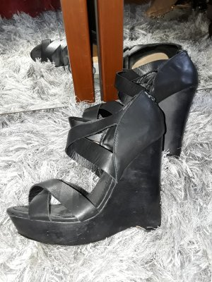 True Religion Wedge Sandals black
