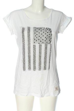 True Religion Print Shirt white-light grey themed print casual look