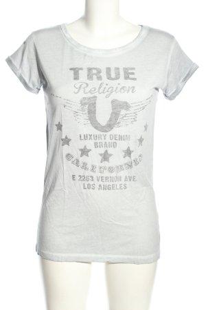 True Religion Koszulka z nadrukiem jasnoszary Wydrukowane logo W stylu casual