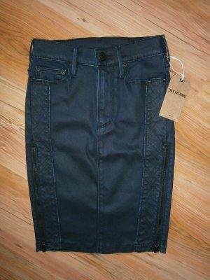 True Religion Falda de tubo azul oscuro-negro