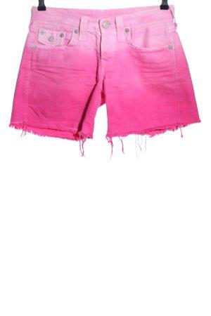 True Religion Shorts pink Farbverlauf Casual-Look
