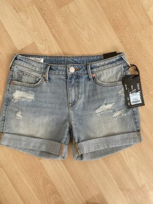 True Religion Short en jean bleu pâle