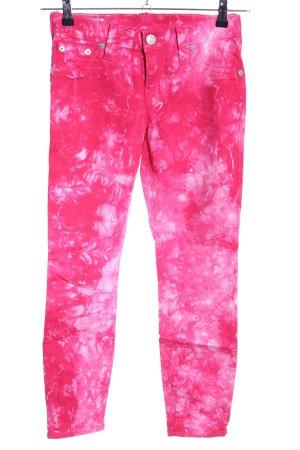 True Religion Skinny Jeans pink Farbverlauf Casual-Look