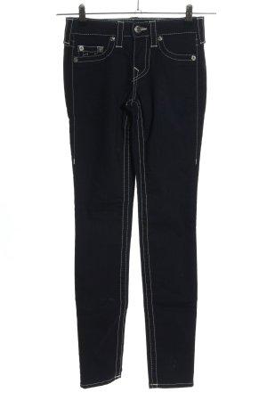 True Religion Skinny Jeans schwarz-weiß Casual-Look