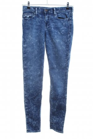 True Religion Skinny Jeans blau-weiß Allover-Druck Casual-Look