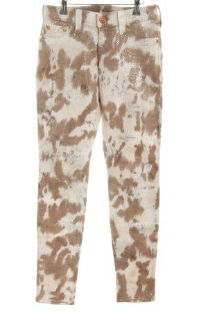 True Religion Skinny Jeans braun-creme Animalmuster extravaganter Stil