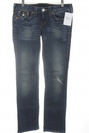 True Religion Skinny Jeans blau meliert Casual-Look