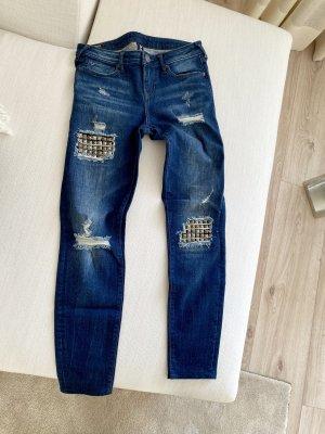 True Religion Jeansy o obcisłym kroju ciemnoniebieski-niebieski