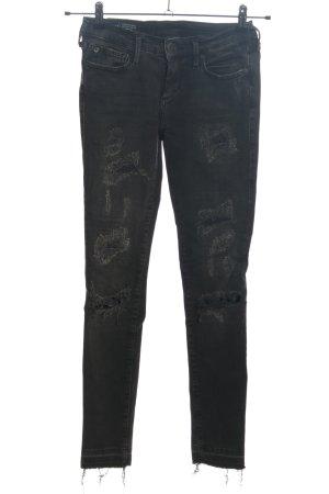 True Religion Skinny Jeans schwarz meliert Casual-Look