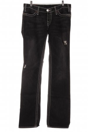 True Religion Skinny Jeans dunkelgrau Casual-Look