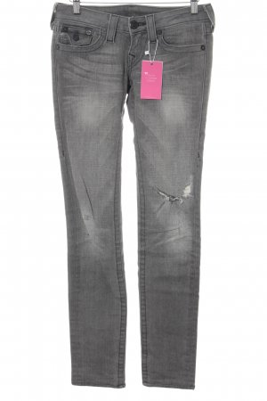 True Religion Skinny Jeans grau Casual-Look