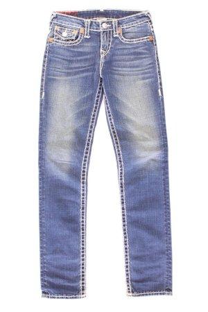True Religion Jeans skinny bleu-bleu fluo-bleu foncé-bleu azur coton