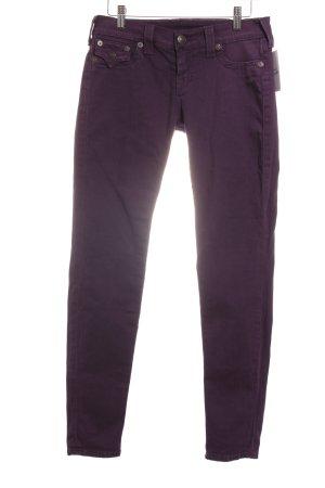 True Religion Skinny Jeans lila Casual-Look