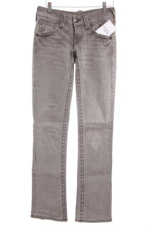 True Religion Skinny Jeans weiß-hellgrau meliert Casual-Look