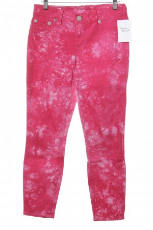 True Religion Skinny Jeans weiß-violett Casual-Look