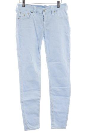 True Religion Slim Jeans babyblau Casual-Look