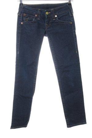 True Religion Slim Jeans blau Business-Look