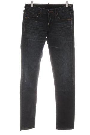 True Religion Slim Jeans dunkelblau-himmelblau meliert Vintage-Look
