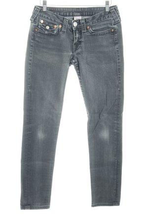 True Religion Slim Jeans grau Casual-Look