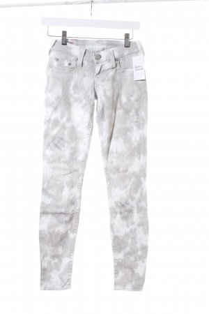 True Religion Slim Jeans hellbeige-hellgrau Casual-Look
