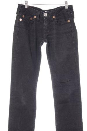 True Religion Slim Jeans schwarz Casual-Look