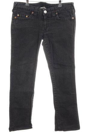 True Religion Slim Jeans schwarz Jeans-Optik