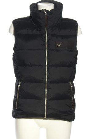 True Religion Gewatteerd vest zwart quilten patroon casual uitstraling