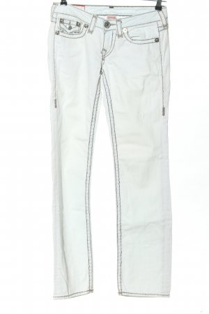 True Religion Jeans a gamba dritta bianco stile casual