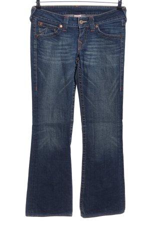 True Religion Straight-Leg Jeans blau Casual-Look