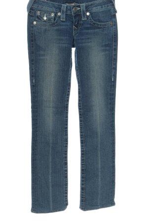 True Religion Jeansy z prostymi nogawkami niebieski W stylu casual