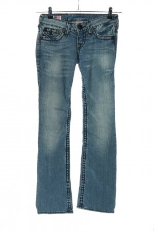 "True Religion Straight-Leg Jeans ""Becky Super T"" blau"