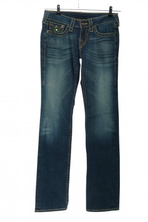 "True Religion Straight-Leg Jeans ""Disco Billy Big T"" blau"