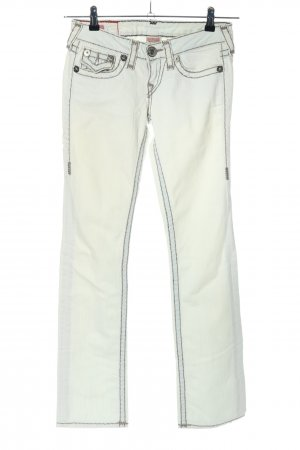 "True Religion Straight-Leg Jeans ""Billy Super T"" wollweiß"