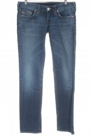 True Religion Straight-Leg Jeans blau sportlicher Stil