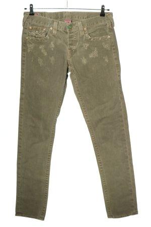 True Religion Jeansy z prostymi nogawkami khaki W stylu casual