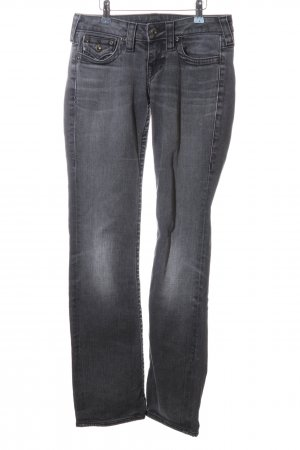 True Religion Straight-Leg Jeans hellgrau Casual-Look