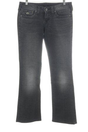 True Religion Straight-Leg Jeans dunkelgrau Bleached-Optik