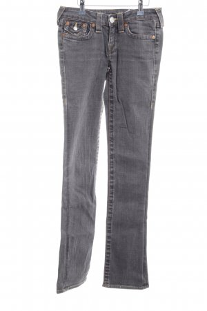 True Religion Straight-Leg Jeans dunkelgrau Casual-Look