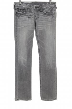 True Religion Straight-Leg Jeans hellgrau-grau Business-Look