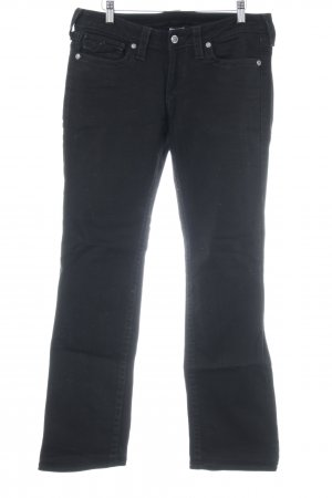 True Religion Straight-Leg Jeans schwarz Casual-Look