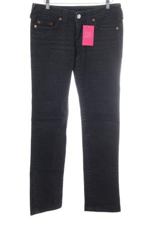 True Religion Straight-Leg Jeans schwarz Jeans-Optik