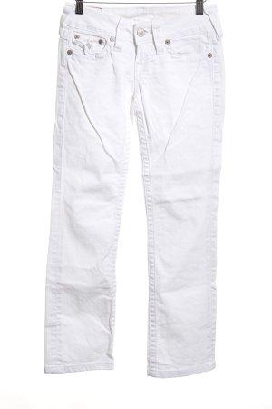 True Religion Straight-Leg Jeans weiß 90ies-Stil