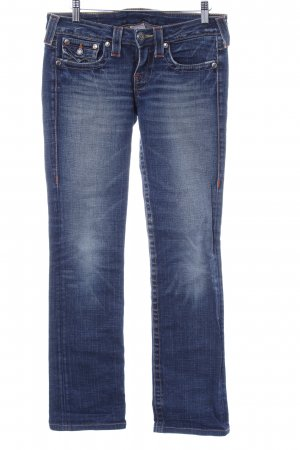True Religion Stretch Jeans blau Street-Fashion-Look