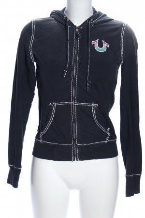 True Religion Sweatjacke schwarz Motivdruck Casual-Look
