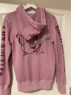 True Religion Chaqueta con capucha rosa empolvado-violeta amarronado
