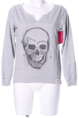True Religion Sweatshirt hellgrau meliert Casual-Look