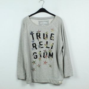 True Religion Sweatshirt Gr. M grau gemustert (19/11/536)