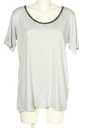 True Religion Camiseta blanco-negro look casual
