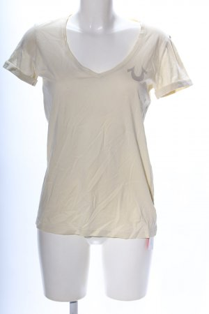 True Religion T-Shirt wollweiß Schriftzug gedruckt Casual-Look
